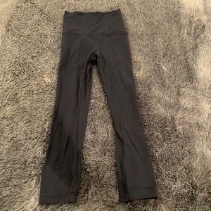 Lululemon Black Cropped Highwaisted Leggings
